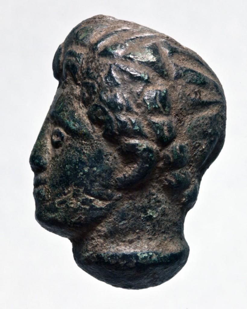 Bronze sculpted head