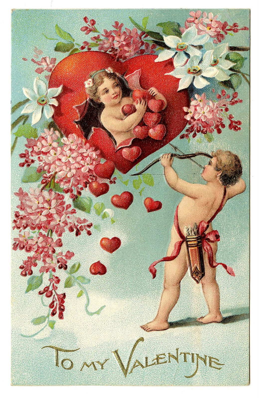 Early 20th century Valentine Card (Image in public domain)