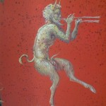 Pan Figure on Cabinet in Pompeian Style, Carlo Marchiori (Photo P.F. Sommerfeldt, 2012)