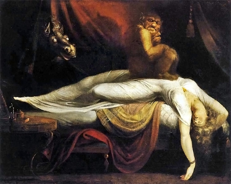 "Henry Fuseli, ""The Night Mare"", 1781 (Image in pubic domain)"