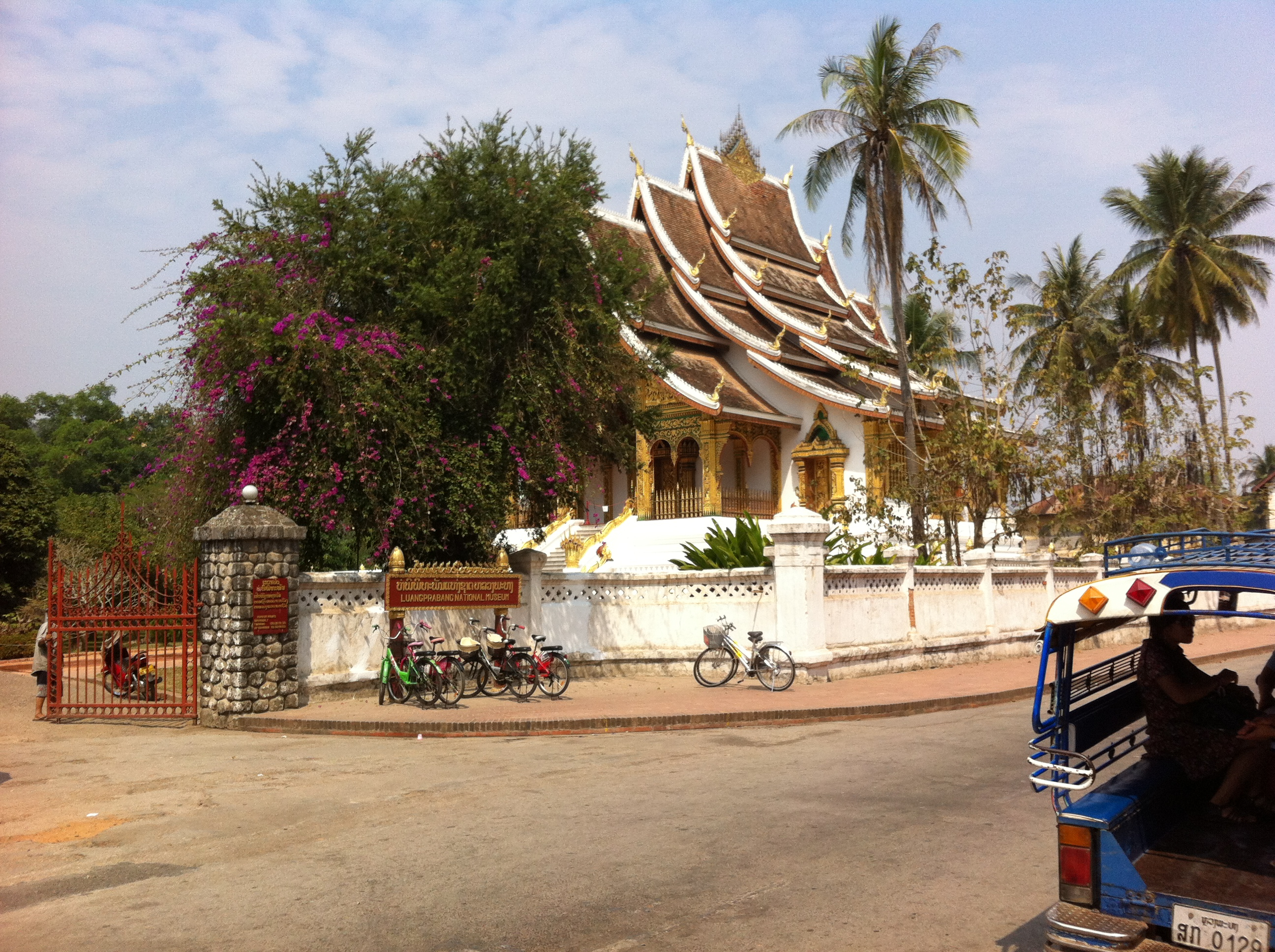 Haw Kham Temple at the entrance to the royal palace in Luang Prabang (photo Catherine Clover 2013)