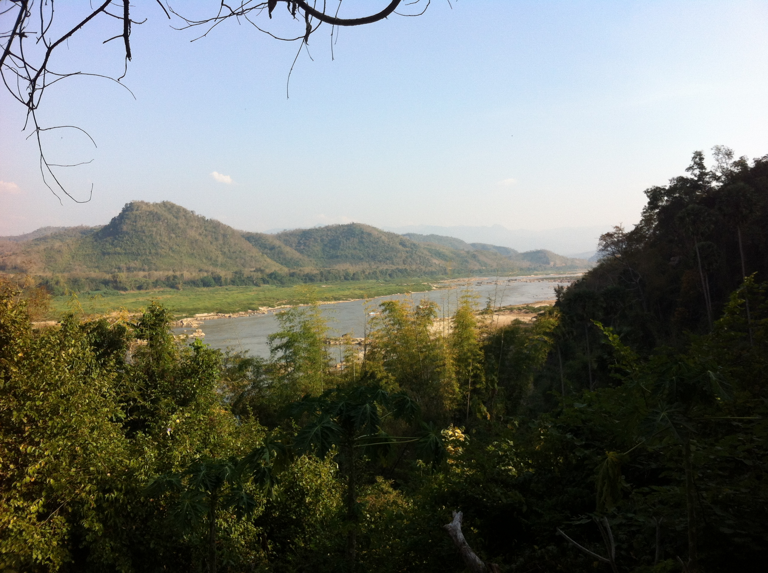 View over the Mekong River from the upper cave entrance (photo Catherine Clover 2013)