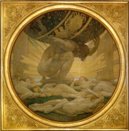 John Singer Sargent, Atlas and the Hesperides, 1922-5, Boston Museum of Fine Arts