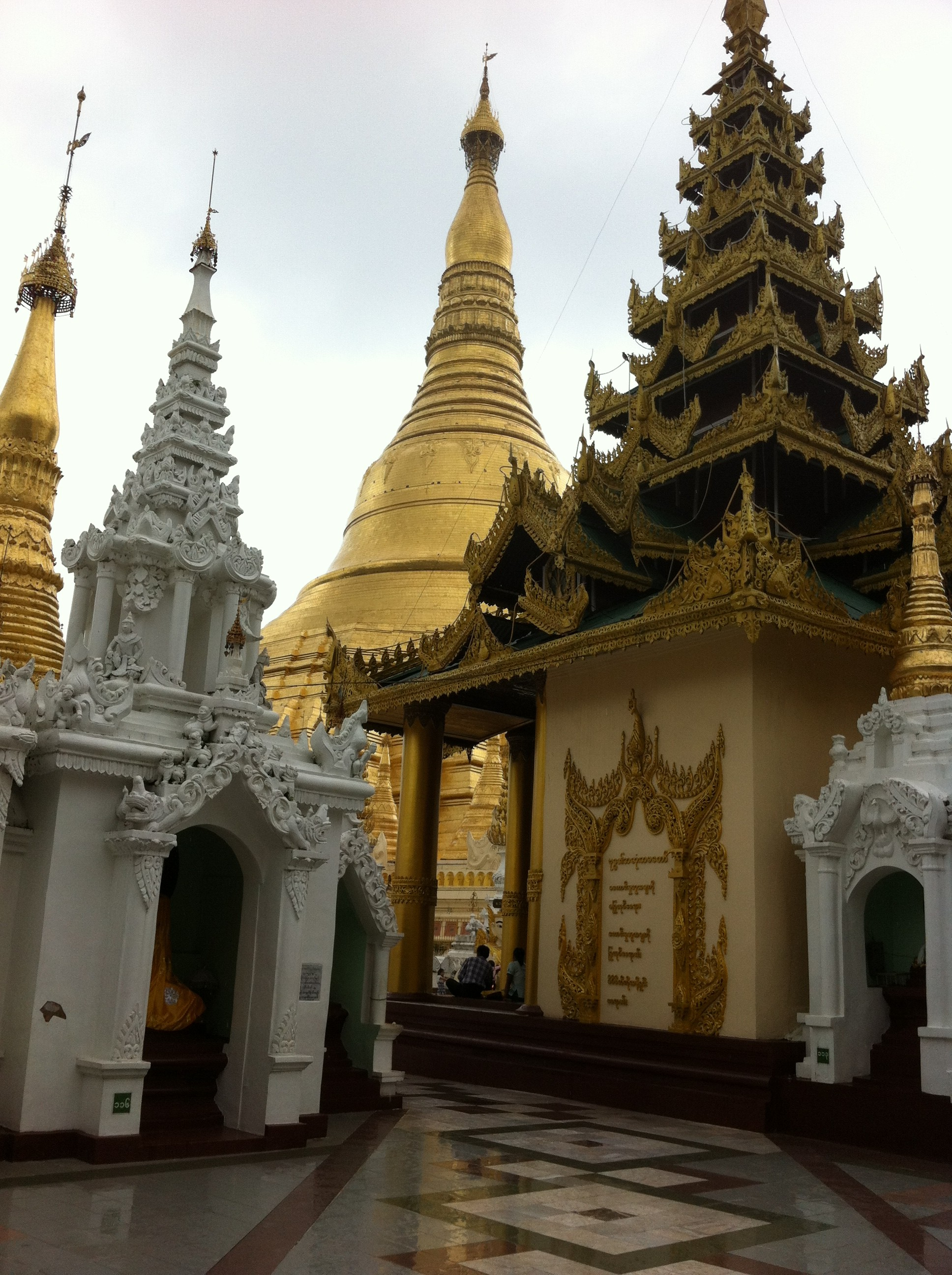 Entrance to the terrace of the Shwedagon Pagoda from the south east corner (photo Catherine Clover 2012)