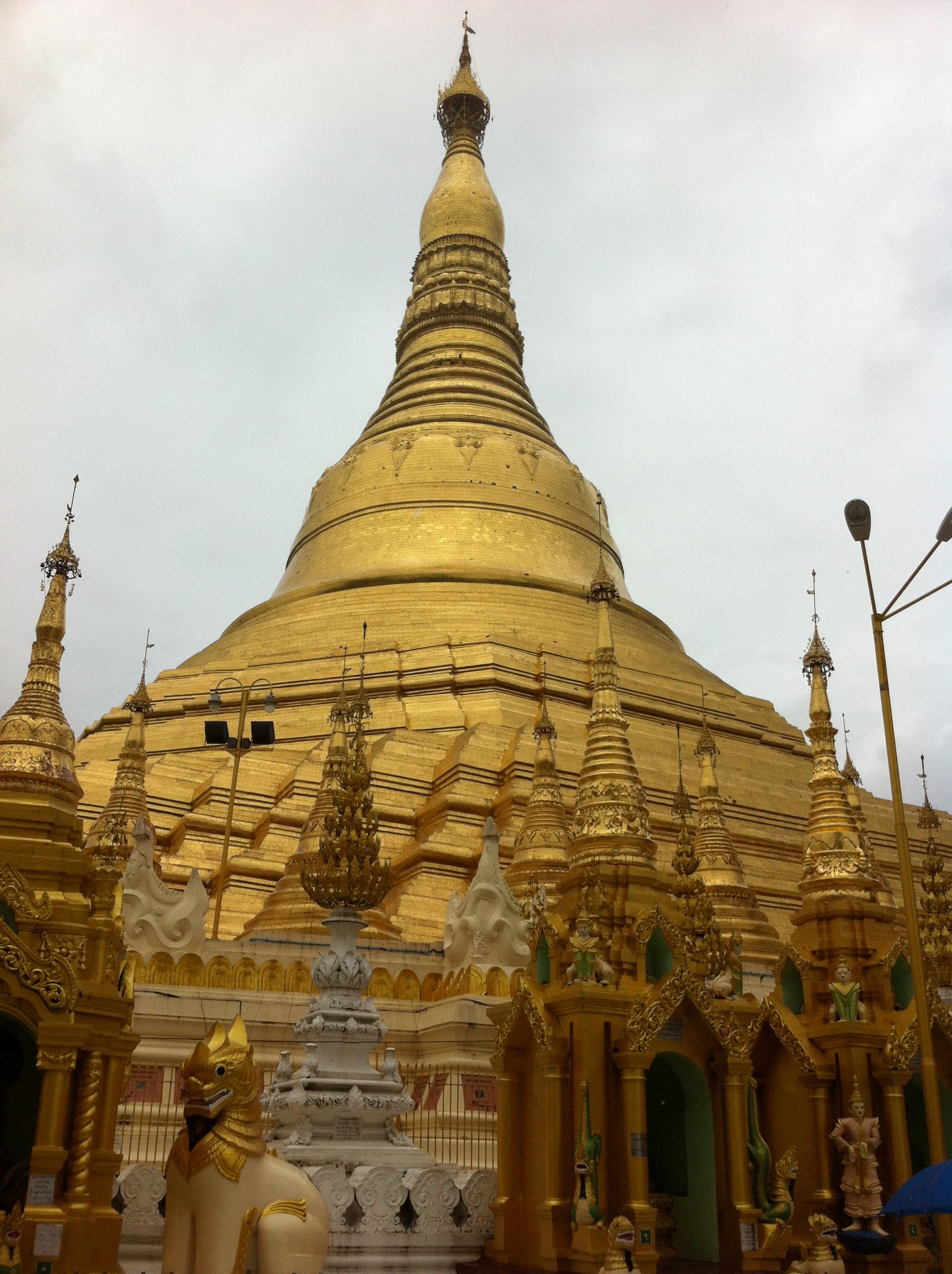 View of the south western side of the Shwedagon Pagoda (photo Catherine Clover 2012)