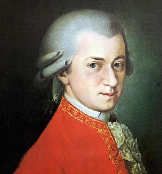 Wolgang Amadeus Mozart, posthumous 1819 Barbara Krafft (Image public domain)