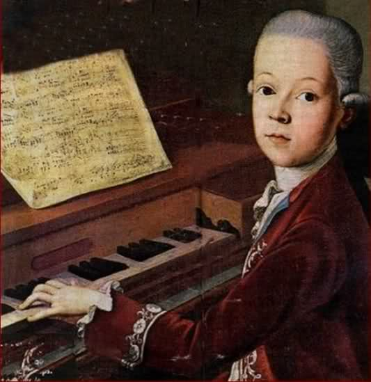 Young Mozart circa 1766 (image in public domain)
