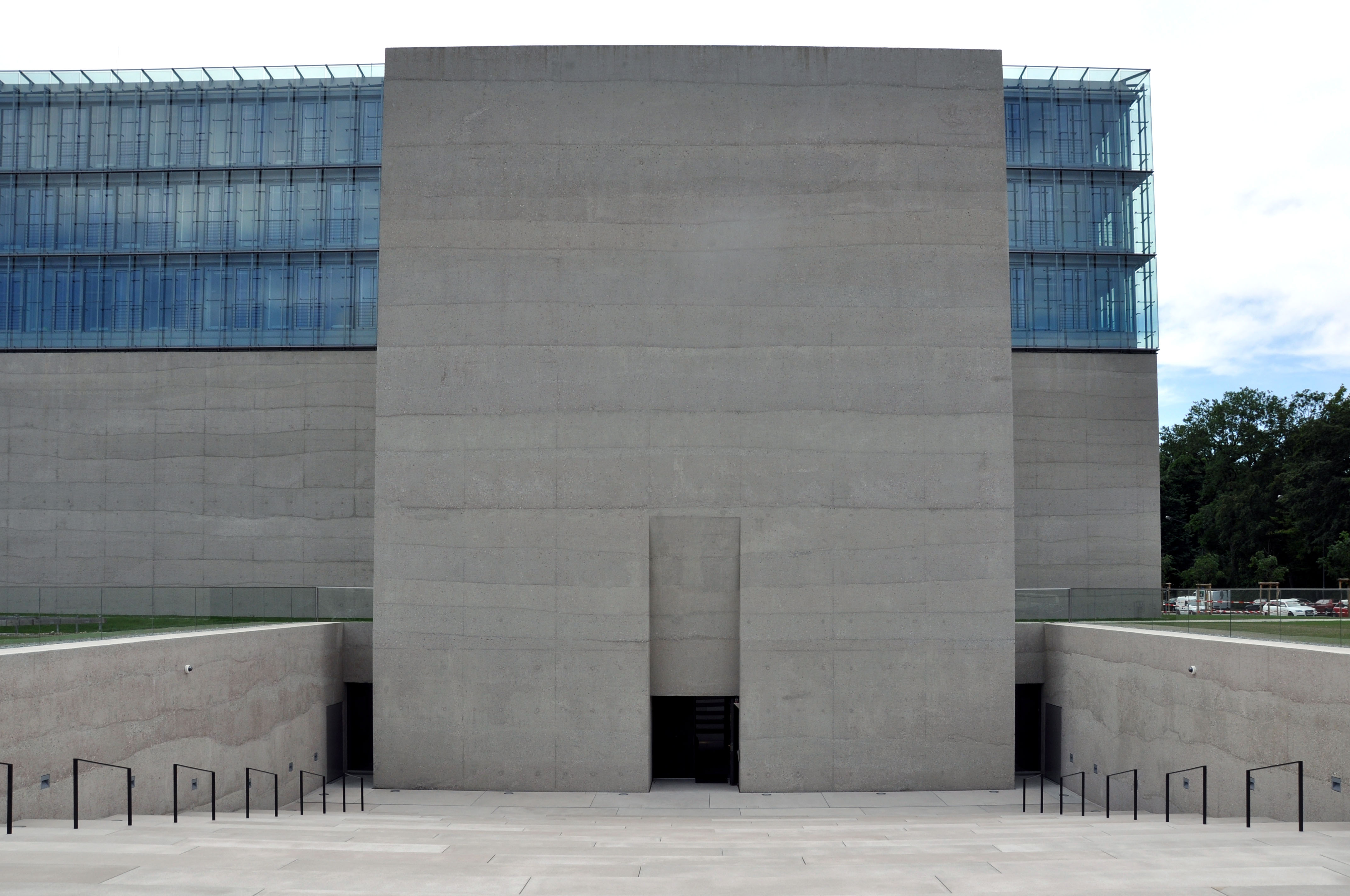 """Fig. 2 Museum """"Pylon"""" Entrance"""