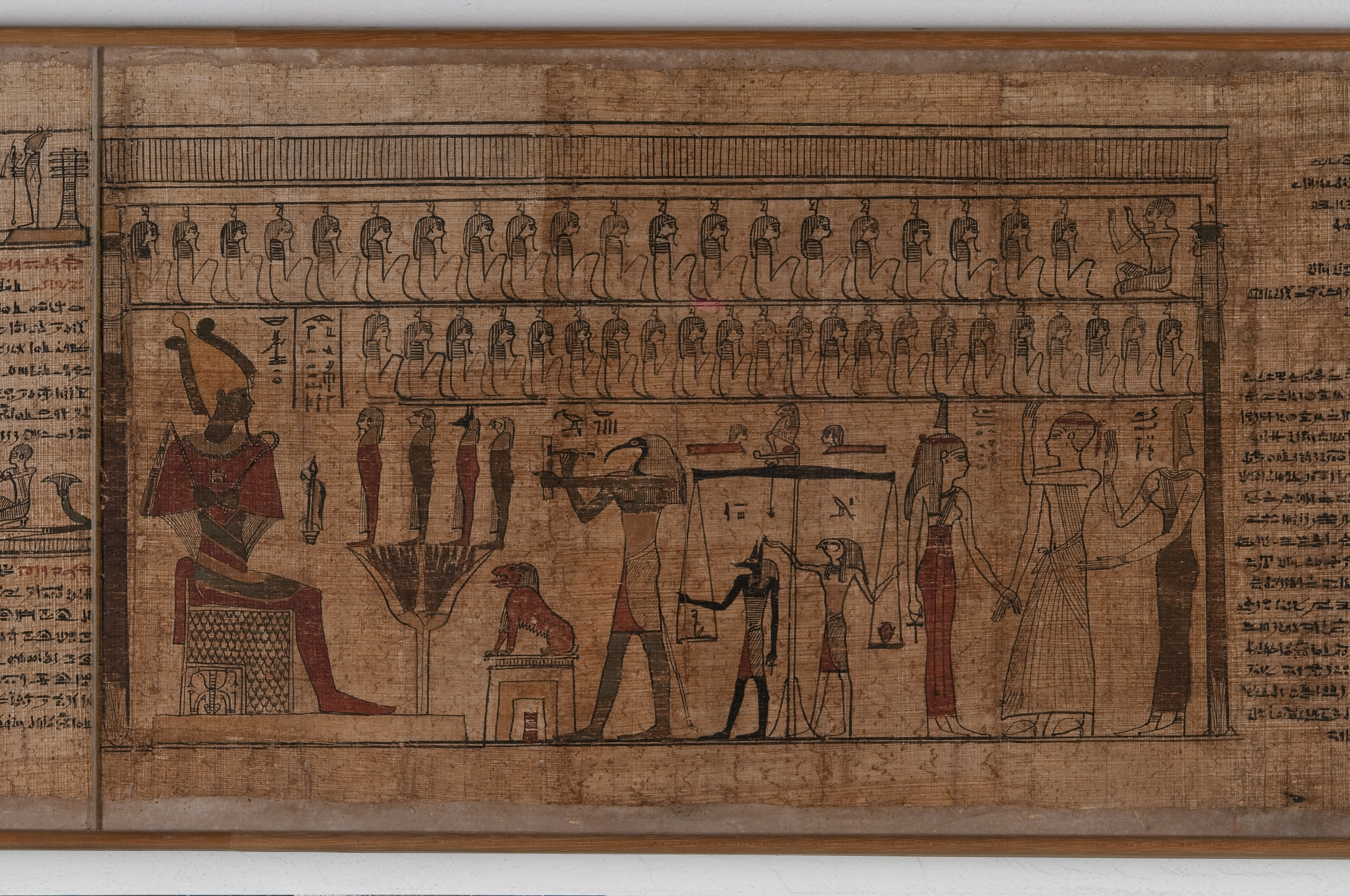Fig. 7   Papyrus painted with scenes from the Book of the Dead, provenance unknown, Ptolemaic, 2nd to 1st century BC, Collection Drovetti, on permanent loan from the Bayerische Staatsbibliothek.