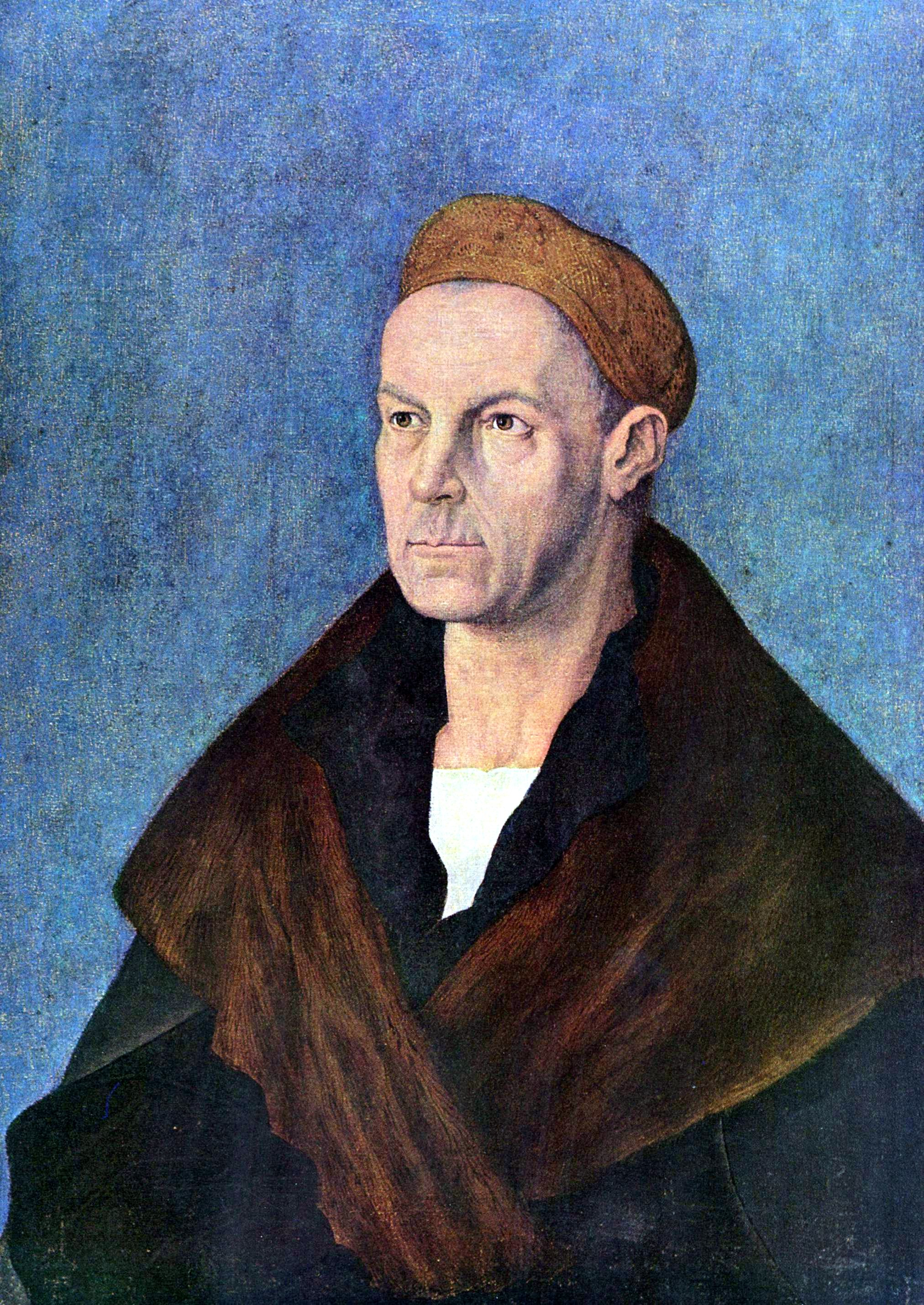 Jacob Fugger, portrait by Albrecht Dürer, 1518 (Staatsgalerie Altdeutsche Meister)