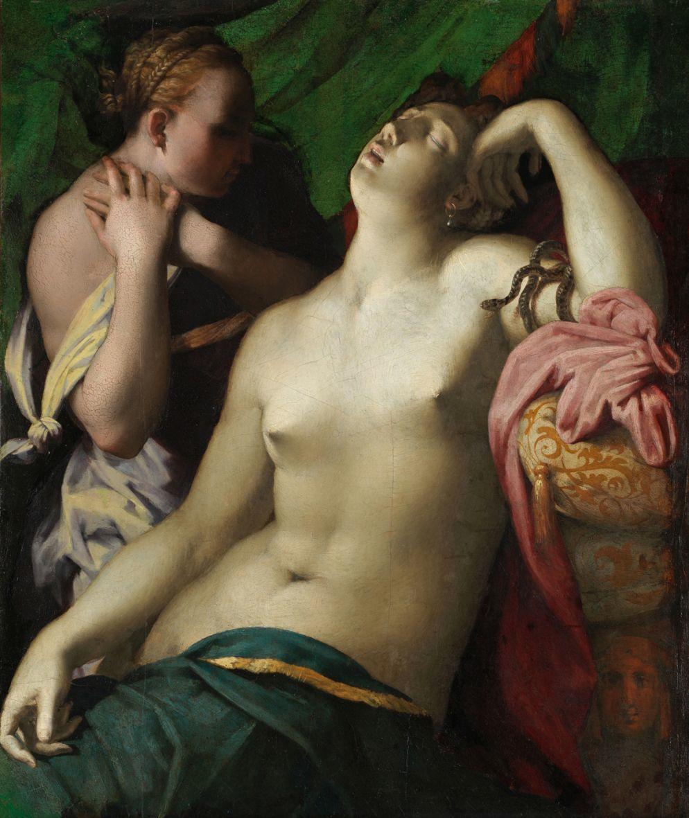 Fig 5.  Rosso Fiorentino, The Death of Cleopatra, 1525-1527 (oil on panel, 88 x 75cm), Braunschweig, Herzog Anton Ulrich-Museum, Kunstmuseum des Landes Niedersachsen, inv. GG 479