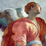Pontormo, detail of Gabriel from Annunciation, 1527-8, Chiesa Santa Felicità, Florence (Courtesy of Le Stanza di Santa Croce)