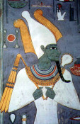 Osiris holding crook and flail (image in public domain)