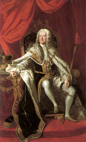 George II, painted by Thomas Hudson, 1744 (image in public domain)
