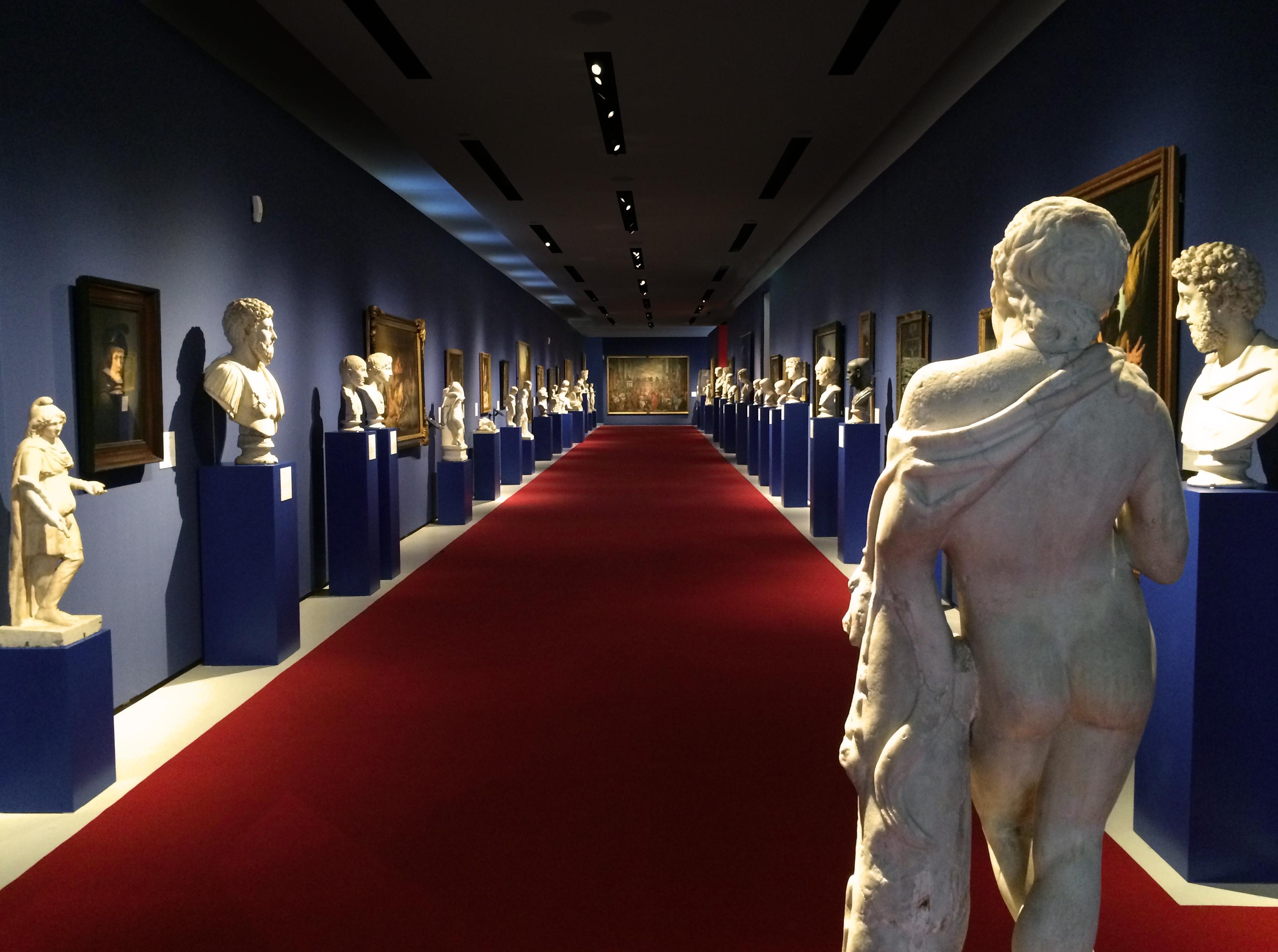 Fig. 4 View along the corridor of the Wallmoden exhibition.