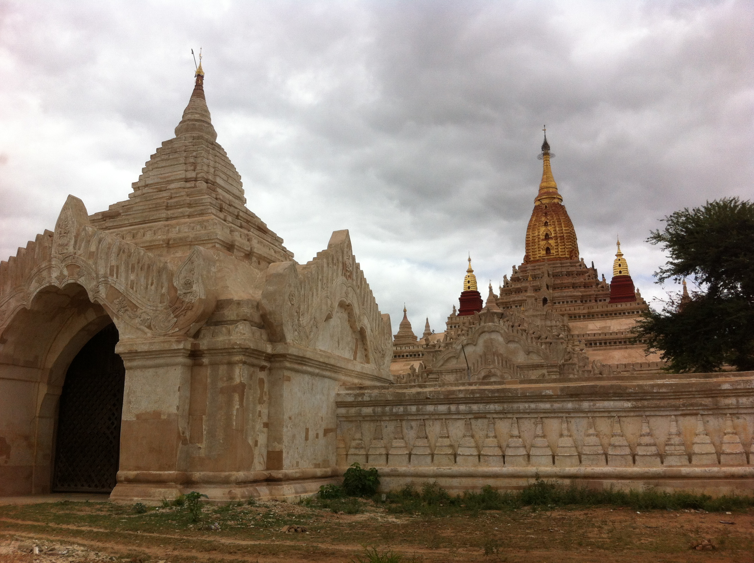 "Bagan's Ananda Temple exterior with hti atop the golden pagoda"" (Photo Catherine Clover 2014)"