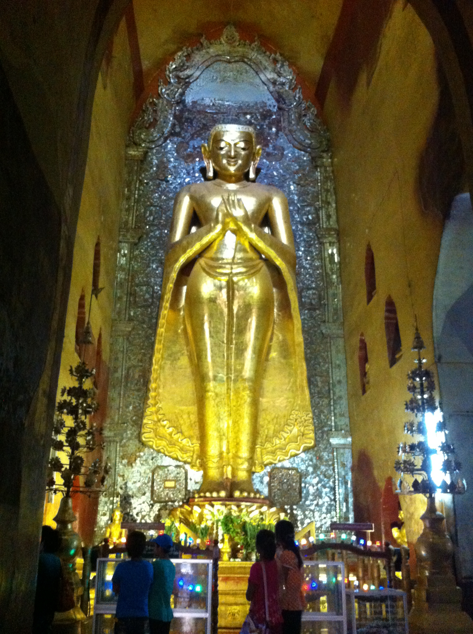 """Original golden Buddha statue in the north facing position""  (Photo Catherine Clover 2014)"