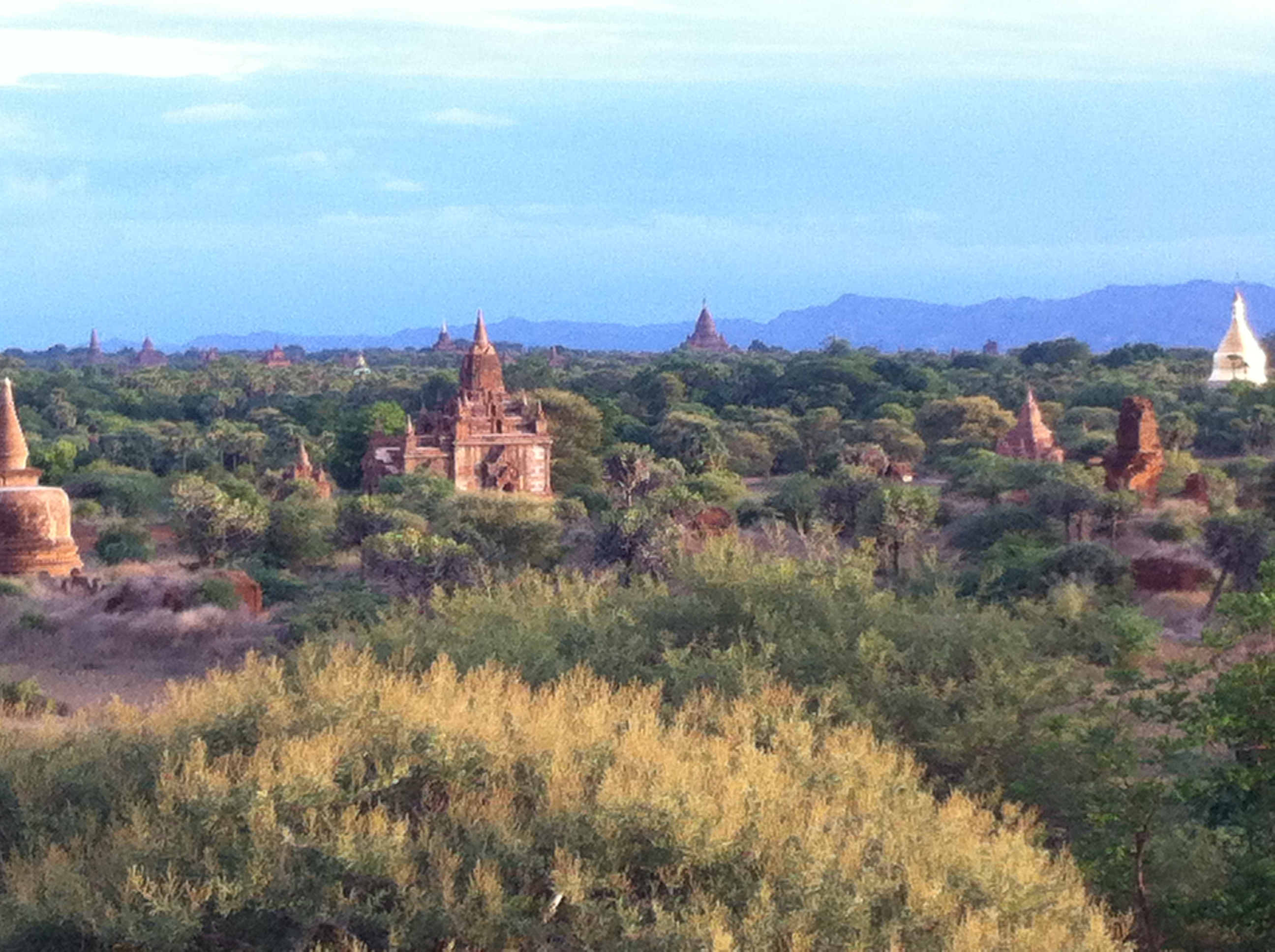 View across Bagan at sunset (Photo Catherine Clover 2014)