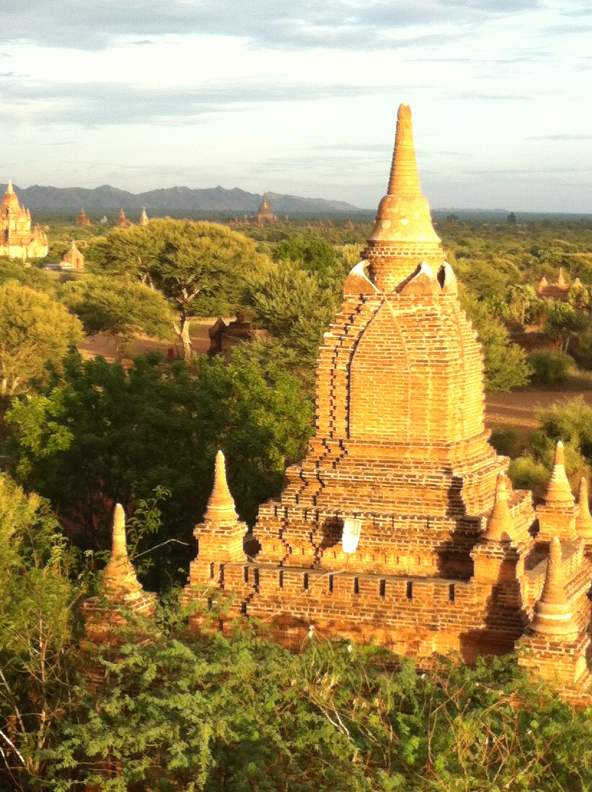 "View across Bagan at Sunset from the top of Shwe San Daw Temple"" (Photo Catherine Clover 2014)"