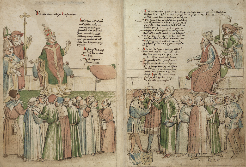 Fig. 1   Council of Constance, 1414-18, illustration from Chronicles of Ulrich von Richenthal (image in public domain)