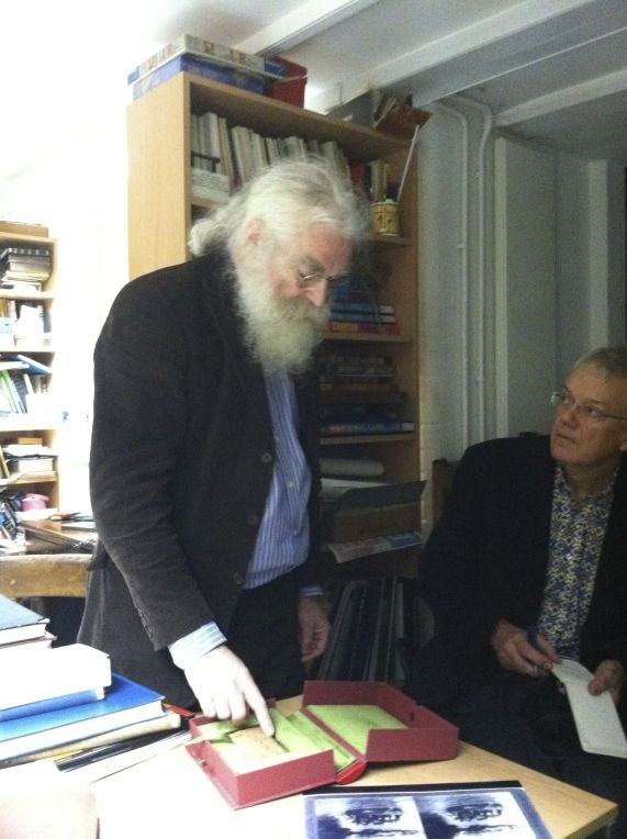Irving Finkel in his office at the British Museum (Photo P. Hunt 2013)