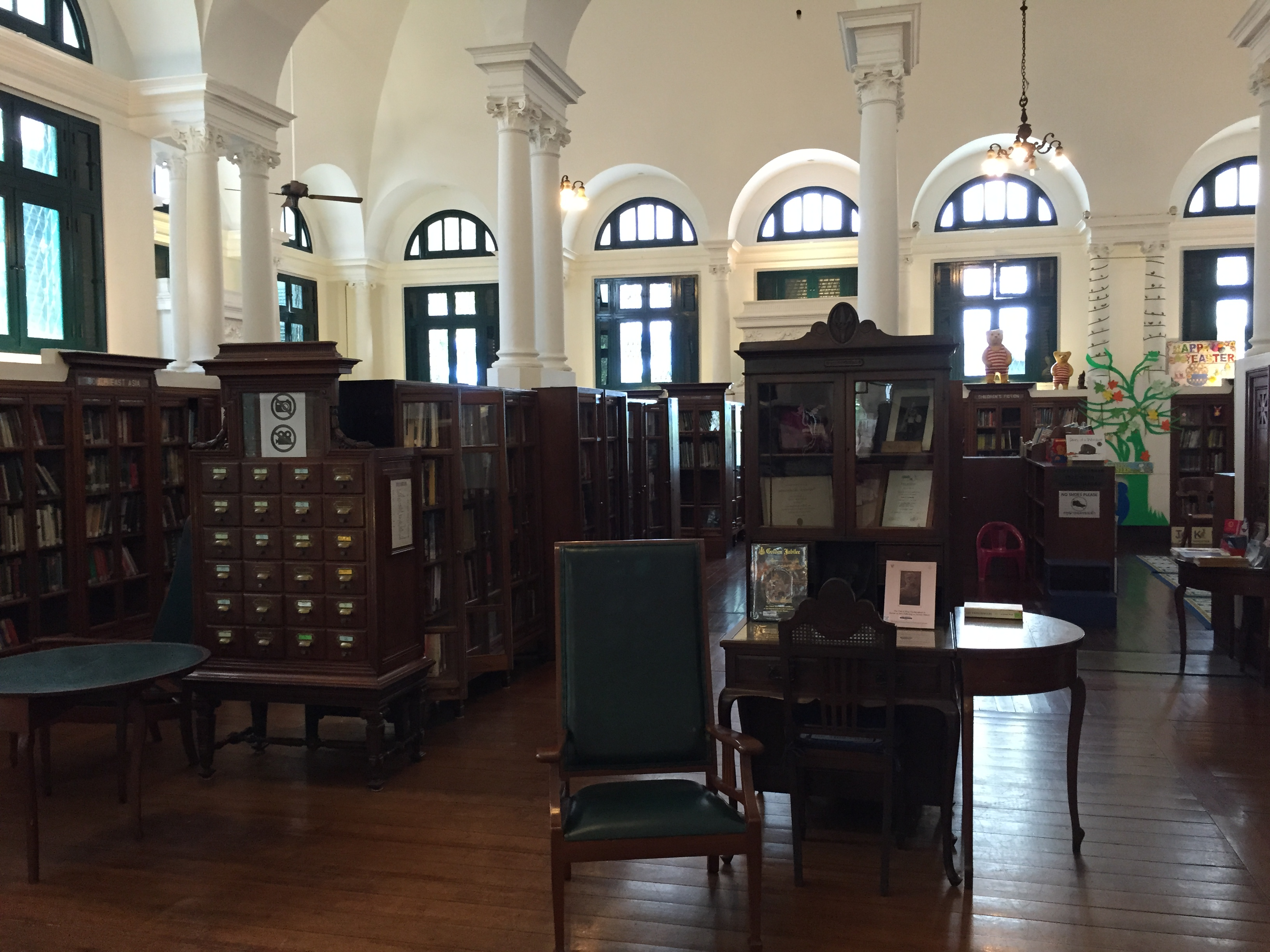 Neilson Hays Library Interior with card catalog (Photo Catherine Clover, 2015)