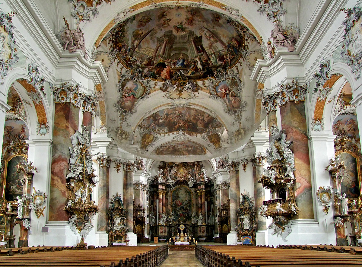 Baroque Basilica of Abbey of Ottobeuren (image in public domain)