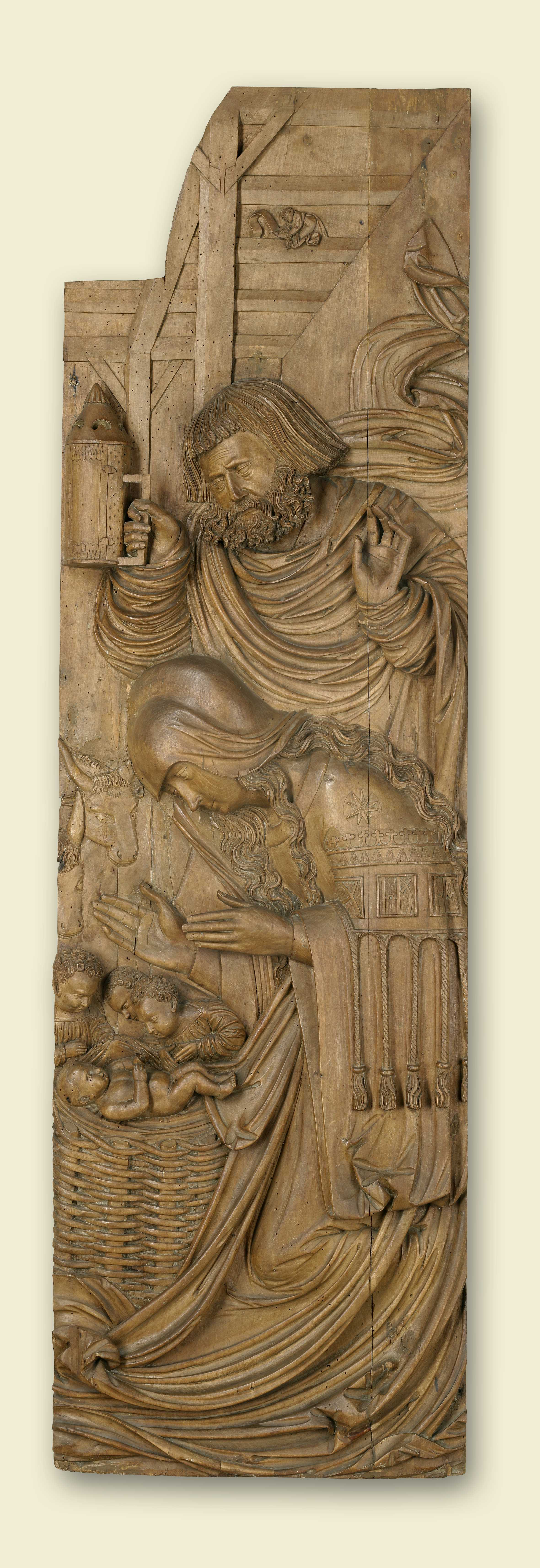 "Nativity Limewood Relief by the ""Ottobeuren Meister"" first half of 16th c. (photo courtesy of Abbey of Ottobeuren)"