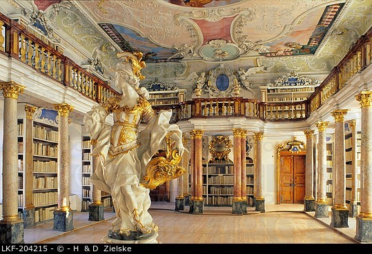 Ottobeuren Abbey Library (courtesy of H. & D. Zielske)