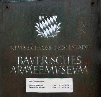 Bavarian Armee Museum Plaque