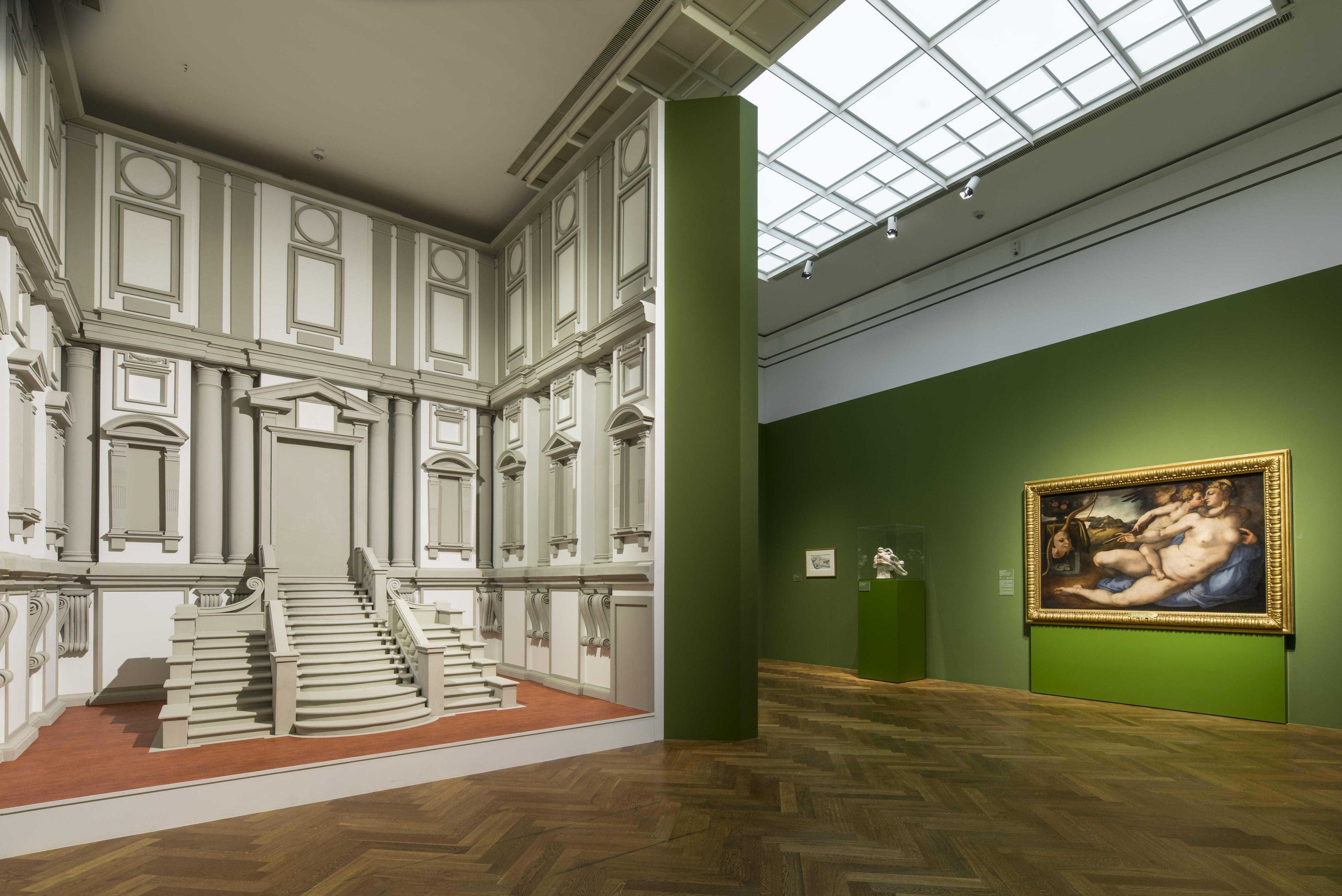 Fig. 2 Michelangelo San Lorenzo in exhibition