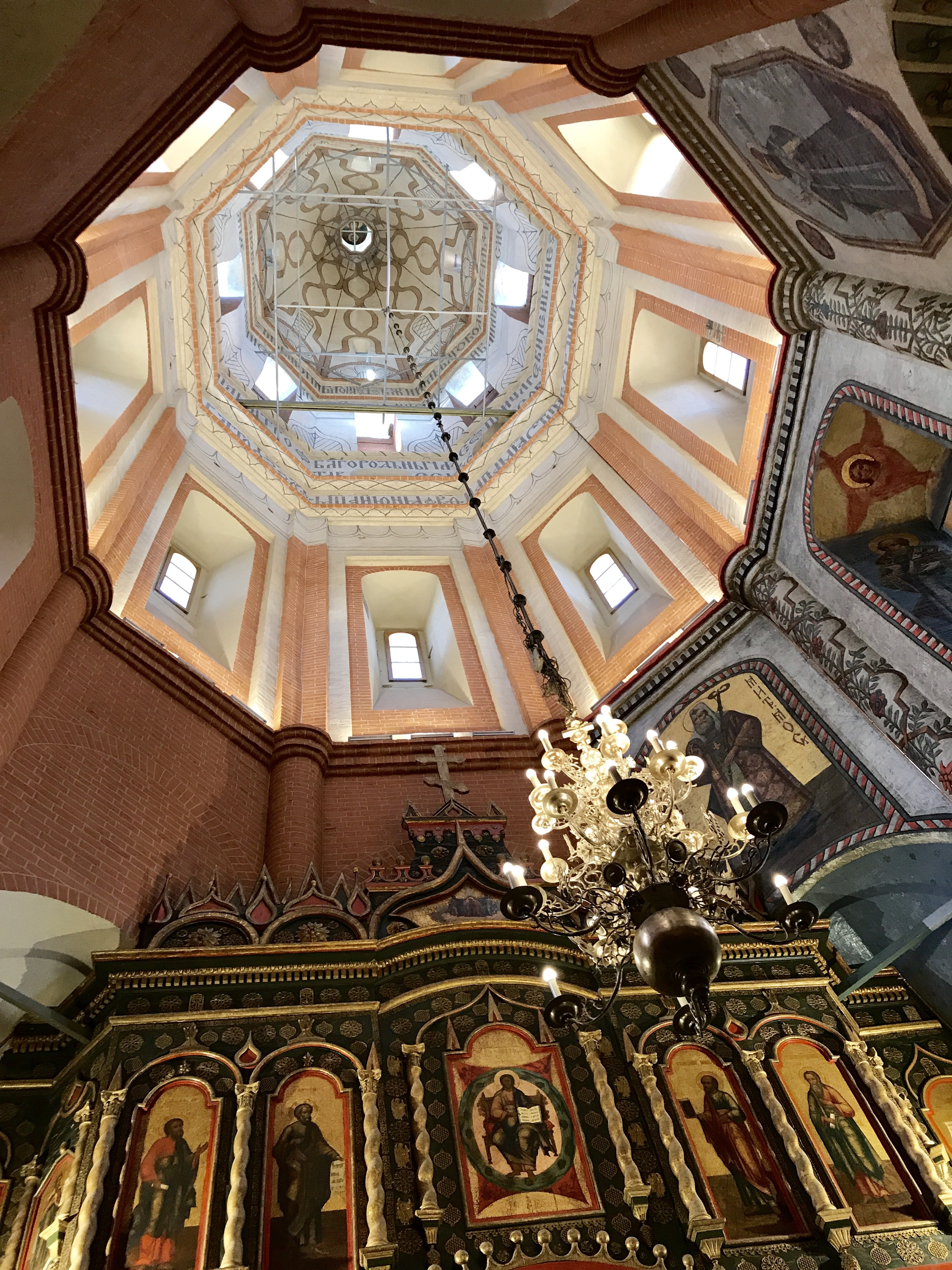 Interior Dome Of One Of The Ten Chapels Of St. Basil (photo P. Hunt 2017)